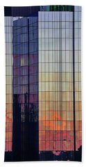Skyscraper Sunset Beach Towel