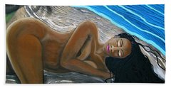 Sleeping Nude Beach Towel