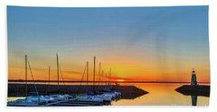Sleeping Yachts Beach Towel