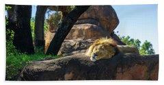 Sleepy Lion Beach Sheet