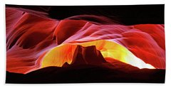 Slot Canyon Mountain Beach Towel