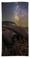 Beach Towel featuring the photograph Slug Bug 'rust' by Aaron J Groen
