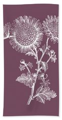 Small Anemone Purple Flower Beach Towel