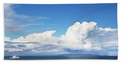 Small Boat And Big Sky Beach Towel