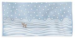 Snow Day Beach Towel