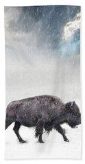 Snow Day Buffalo Beach Towel
