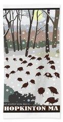 Snow Day In Hopkinton Beach Sheet