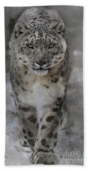 Snow Leopard II Beach Towel