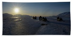 Snowmobile Expeditions Beach Towel