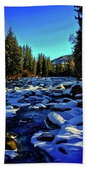 Beach Sheet featuring the photograph Snowy Eagle River by Dan Miller
