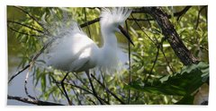 Snowy Egret 4031202 Beach Sheet
