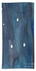 Beach Towel featuring the painting Snowy Night by Maria Langgle