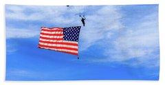 Socom Flag Jump Beach Towel