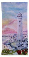 Soft Lighthouse Beach Towel