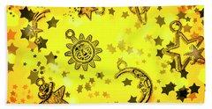 Solar Stars Beach Towel