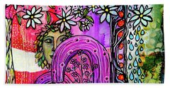 Beach Towel featuring the mixed media Something About Spring by Mimulux patricia No