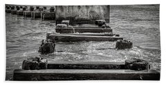 Beach Towel featuring the photograph Something In The Water by Steve Stanger