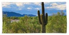 Sonoran Desert Landscape Post-monsoon Beach Towel