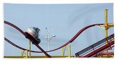 Southport.  The Fairground. Crash Test Ride. Beach Sheet