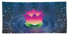 Space Lotus Beach Towel