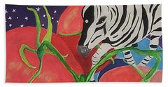 Space Zebra Beach Towel