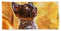 Special Long Neck Kitty Beach Towel