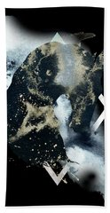 Beach Towel featuring the digital art Spirit Animal by Bee-Bee Deigner