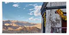 Beach Towel featuring the photograph Spituk Gompa by Whitney Goodey