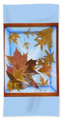Splattered Leaves Beach Towel