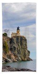 Split Rock Lighthouse Portrait Beach Towel