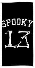 Spooky 13 Halloween Jersey Beach Sheet