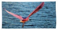 Spoonbill Wingspan Beach Towel