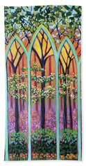 Spring Cathedral Beach Towel