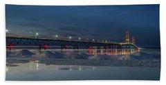 Spring Evening At The Mackinac Bridge Beach Towel
