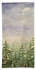spring flurry Teton Style Beach Towel
