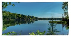 Spring Morning On Grand Sable Lake Beach Towel