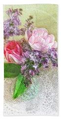 Spring Song Floral Still Life Beach Sheet