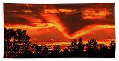 Springport, Michigan Sunset 4289 Beach Towel