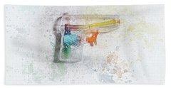 Squirt Gun Painted Beach Towel