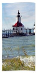 St. Joe, Michigan Lighthouse Beach Towel