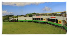 Beach Towel featuring the photograph St Kitts Railway by Tony Murtagh