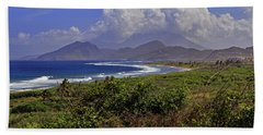 Beach Towel featuring the photograph St Kitts  by Tony Murtagh