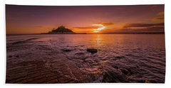 St Michael's Mount - January Sunset Beach Towel