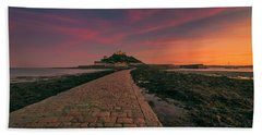 St Michael's Mount Sunset Beach Towel