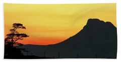 Stac Polly Mountain Sunset Beach Towel