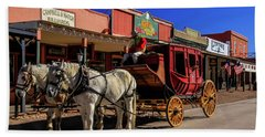 Stagecoach, Tombstone Beach Towel