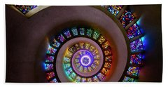 Stained Glass Spiral Beach Towel