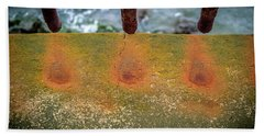 Beach Towel featuring the photograph Stains by Steve Stanger