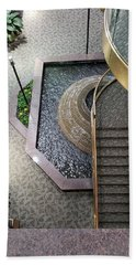 Stairs And Fountain  Beach Towel