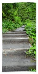 Stairs To The Woods Beach Towel